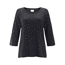 Buy East Beaded Knitted Jumper, Slate Online at johnlewis.com