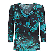 Buy Kaliko Cowl Neck Winter Floral Print Top, Green/Multi Online at johnlewis.com
