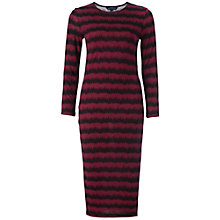 Buy French Connection Siberian Stripe Dress, Burgundy/Utility Black Online at johnlewis.com