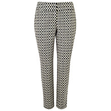 Buy Phase Eight Erica Oval Jacquard Trousers, Black/Ivory Online at johnlewis.com