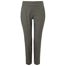 Buy Phase Eight Fiona Geometric Print Trousers, Black/Ivory Online at johnlewis.com