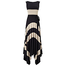 Buy Phase Eight Wide Stripe Maxi Dress, Black/Mocha Online at johnlewis.com
