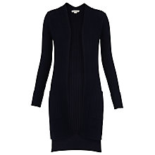 Buy Whistles Ribbed Cardigan, Navy Online at johnlewis.com