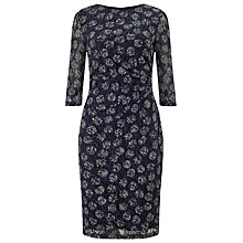 Buy Phase Eight Textured Lace Spot Dress, Navy/Multi Online at johnlewis.com