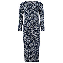 Buy French Connection Argan Rose Column Dress, Navy Online at johnlewis.com