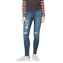 Buy Mango Soho Skinny Jeans, Open Blue Online at johnlewis.com