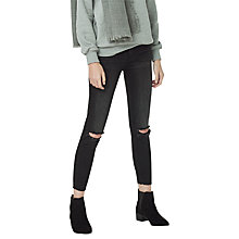 Buy Mango Crop Skinny Isa Jeans, Open Grey Online at johnlewis.com