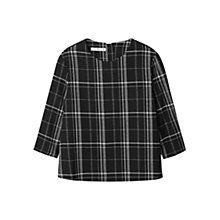 Buy Mango Check Top, Black Online at johnlewis.com