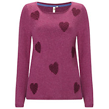 Buy White Stuff Boucle Sprinkle Hearts Jumper, Juniper Pink Online at johnlewis.com