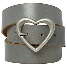 Buy White Stuff Heart Buckle Belt, Grey Online at johnlewis.com