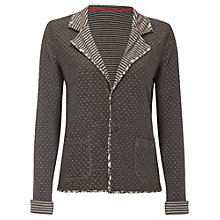 Buy White Stuff Florence Reversible Jersey Jacket, Grey Online at johnlewis.com
