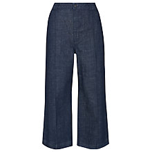 Buy Whistles Lucie Utility Cropped Wide Leg Jeans, Denim Online at johnlewis.com