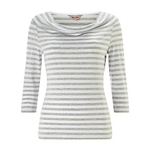 Buy Phase Eight Stella Stripe Top, Grey/Ivory Online at johnlewis.com