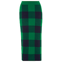 Buy Whistles Clark Knit Skirt, Green Online at johnlewis.com