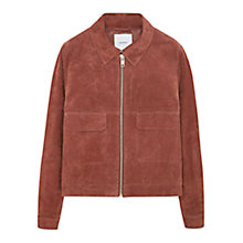 Buy Mango Flap Pocket Jacket, Medium Orange Online at johnlewis.com
