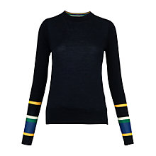 Buy Whistles Harrison Stripe Cuff Jumper, Navy Online at johnlewis.com