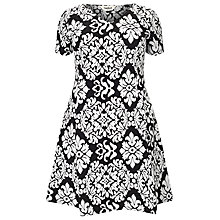 Buy Studio 8 Anna Contrast Dress, Black/White Online at johnlewis.com