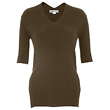 Buy Whistles Rib V Neck Top Online at johnlewis.com