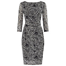 Buy Phase Eight Leaf Print Dress, Black/Ivory Online at johnlewis.com
