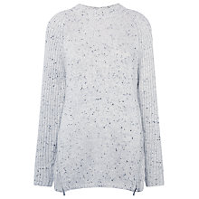 Buy Whistles Donegal Tweed Knit Jumper, Pale Grey Online at johnlewis.com
