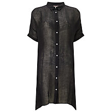 Buy Phase Eight Ines Oversized Linen Shirt, Black Online at johnlewis.com