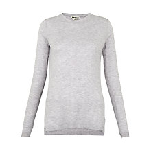 Buy Whistles Annie Sparkle Knit Top, Pale Grey Online at johnlewis.com