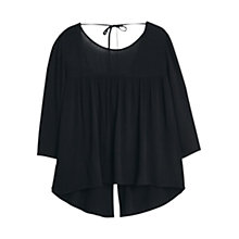 Buy Mango Flowy Blouse, Black Online at johnlewis.com