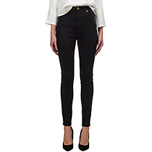 Buy Whistles High Waisted Skinny Jeans, Black Online at johnlewis.com
