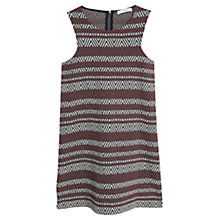 Buy Mango Textured Jacquard Dress, Dark Red Online at johnlewis.com