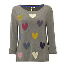 Buy White Stuff Lots Of Love Jumper, Grey Online at johnlewis.com