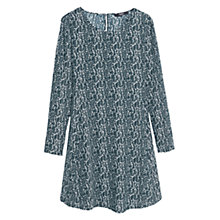 Buy Mango Flowy Print Dress, Dark Green Online at johnlewis.com