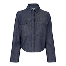 Buy Whistles Lucie Utility Crop Jacket, Denim Online at johnlewis.com