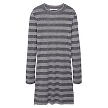 Buy Mango Ribbed Jersey Dress, Medium Grey Online at johnlewis.com