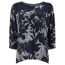 Buy Phase Eight Mita Print Jumper, Navy Online at johnlewis.com