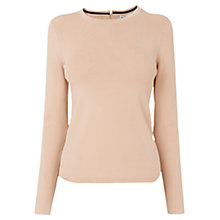 Buy Whistles Zip Back Long Sleeve Jumper, Nude Online at johnlewis.com