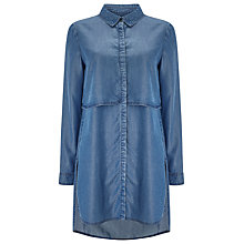 Buy Phase Eight Maida Tiered Tunic Dress, Indigo Wash Online at johnlewis.com
