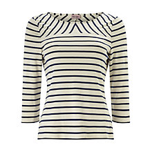 Buy Phase Eight Ponte Stripe Top, Ivory/Navy Online at johnlewis.com