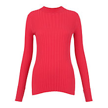 Buy Whistles Frey Skinny Rib Knit, Pink Online at johnlewis.com