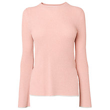 Buy Whistles Fluted Sleeve Jumper, Pink Online at johnlewis.com