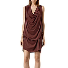 Buy AllSaints Amei Sleeveless Dress, Russet Online at johnlewis.com