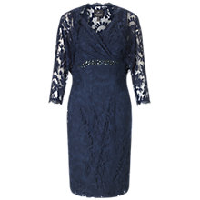Buy Adrianna Papell Embroidered Mesh Dress And Jacket Set, Deep Blue Online at johnlewis.com