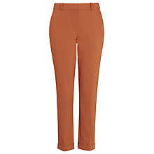 Buy Whistles Sadie Slim Leg Trousers, Rust Online at johnlewis.com