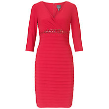 Buy Adrianna Papell Band And Beaded Jersey Dress, Cardinal Online at johnlewis.com