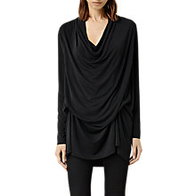 Buy AllSaints Amei Long Sleeved Top, Black Online at johnlewis.com