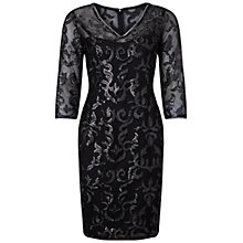 Buy Adrianna Papell V-Neck Sequin Cocktail Dress, Black/Silver Online at johnlewis.com