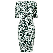 Buy Whistles Daisy Print Jersey Dress, Green/Multi Online at johnlewis.com