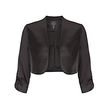 Buy Adrianna Papell Shirred Sleeve Jacket, Black Online at johnlewis.com