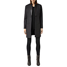 Buy AllSaints Lorie Coat, Charcoal Online at johnlewis.com