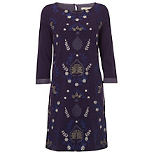 Buy White Stuff Toadstall Jersey Dress, Marine Purple Online at johnlewis.com