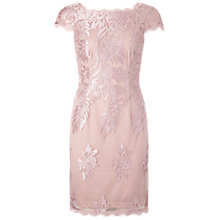 Buy Adrianna Papell Embroidered Mesh Party Dress, Blush Online at johnlewis.com